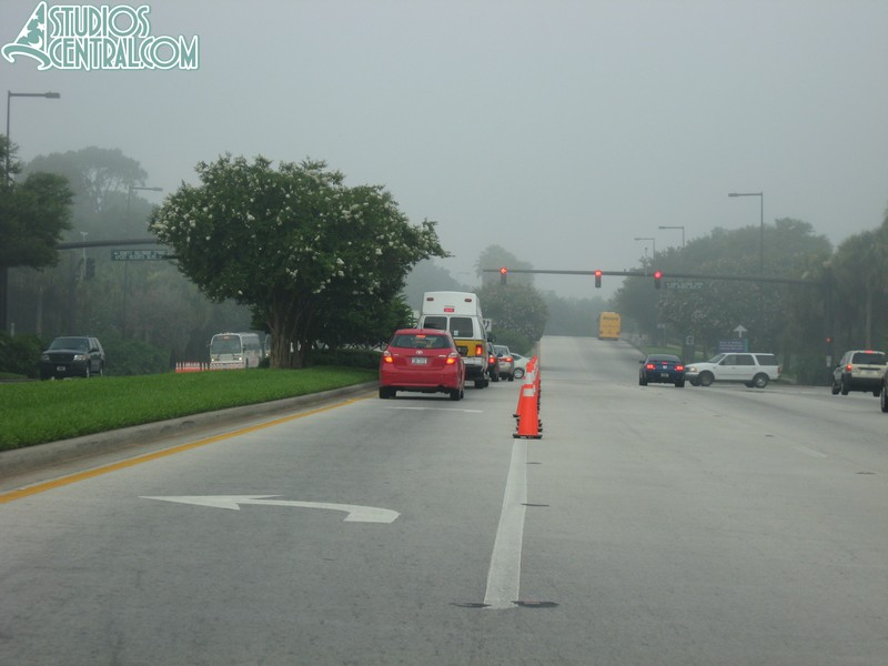 Cones in the road