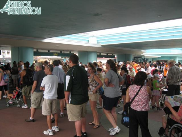 The crowd to get into the Studios