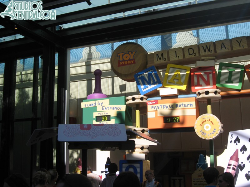 Wait time early in the moring at Toy Story Midway Mania