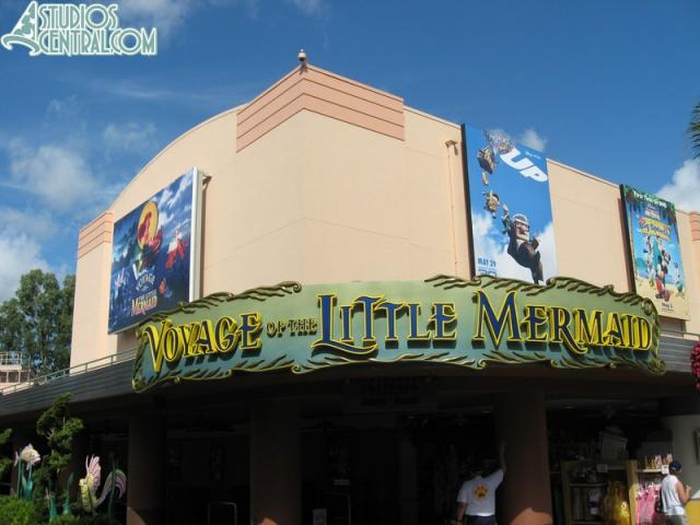 New sign above Voyage of the Little Mermaid, minus the statues