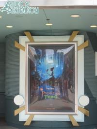 New Frong Princess poster outside Magic of Disney Animation