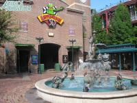 An empty Muppetvision Courtyard