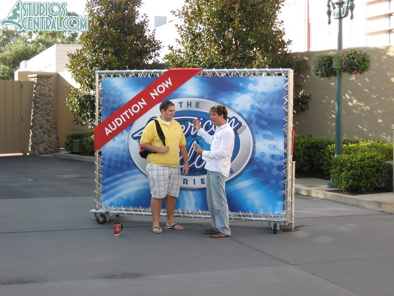 American Idol Experience auditions at the front of the park