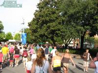 The mass of humanity headed towards Toy Story Midway Mania