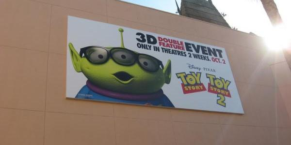 Toy Story billboard on back of the Great Movie Ride