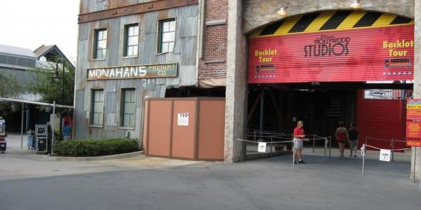 Tram still missing from Backlot Tour entrance