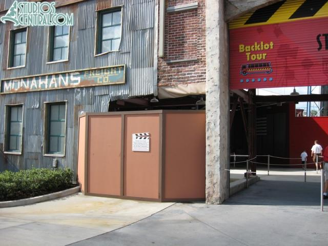 Backlot Tour facade still under rehab