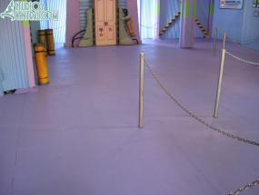 Newly painted floor at Monster's Inc