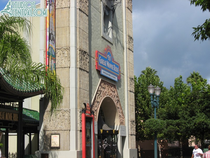 Still a temporary sign on the Great Movie Ride