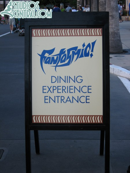 Fantasmic! Dinner Package sign on Sunset Boulevard