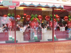 Christmas decorations in the window (seriously)