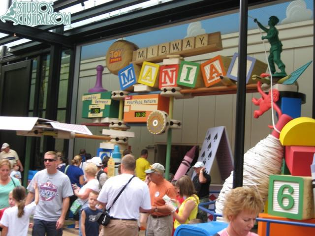 Toy Story Midway Mania line at 10:30am