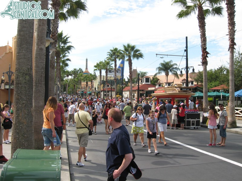A very crowded Sunset Boulevard