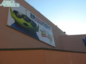 Toy Story 3 billboard behind Great Movie Ride