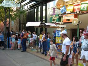 The line for Toy Story Midway Mania