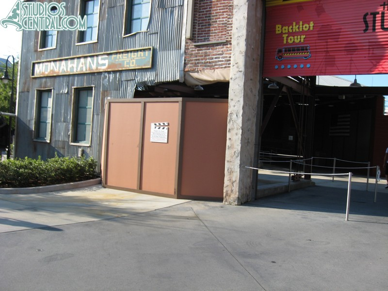 Tram missing at Backlot Tour