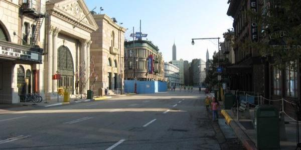 Looking down Streets of America