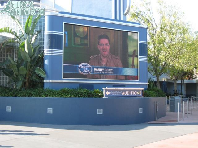 Check out the audition sign below the screen