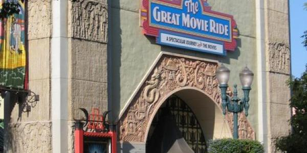 Temporary sign at Great Movie Ride