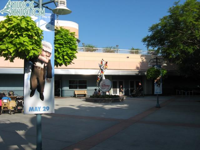 Up banners in Animation Courtyard