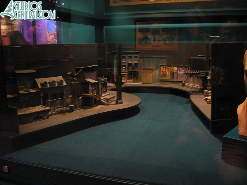 New diorama of the Great Movie Ride gangster scene in One Man's Dream