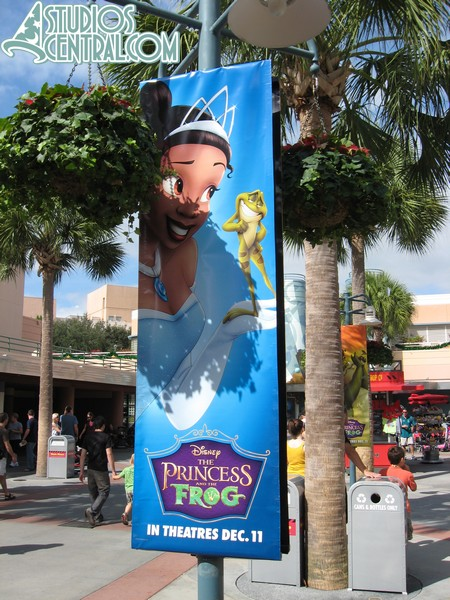 Princess and the Frog banners in the Animation Courtyard