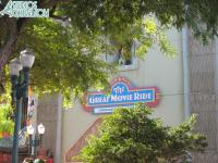Temporary Great Movie Ride sign