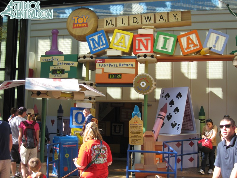 Slow day at Toy Story Midway Mania