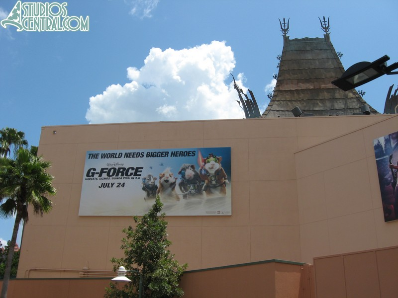 New billboard behind Great Movie Ride