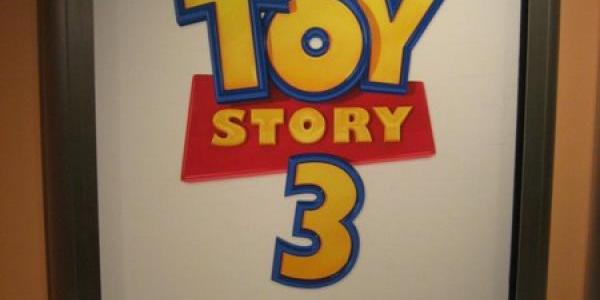 New Toy Story 3 sign at the end of the Magic of Disney Animation