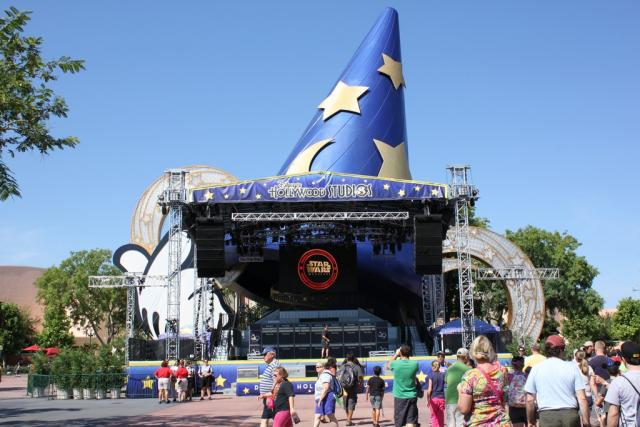 Stage is up at the Sorcerers Hat