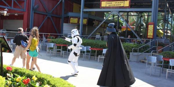 Storm Trooper escorting Darth Vader