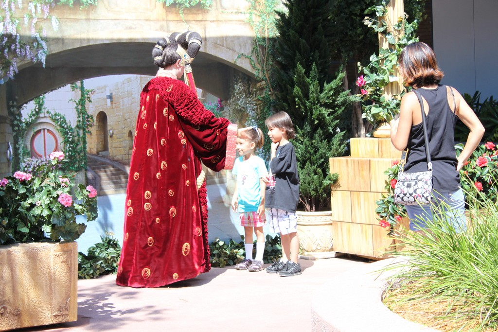 Queen Amidala meeting guests