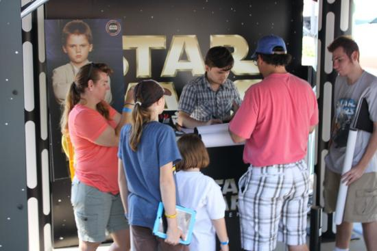 Jake Lloyd meeting guests