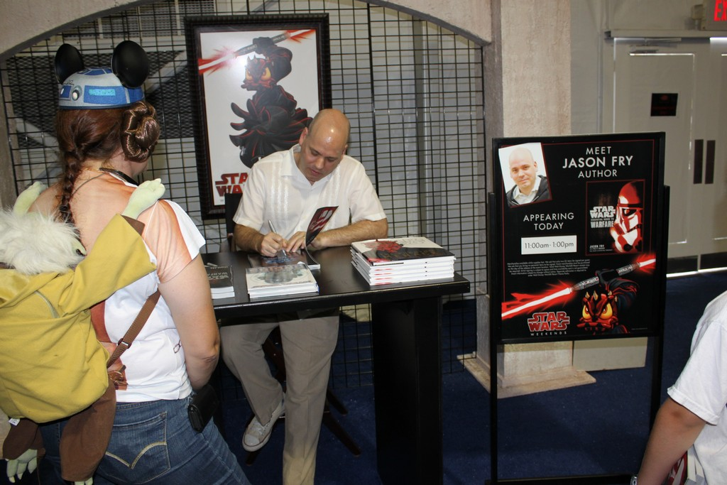Star Wars author Jason Fry meeting guests