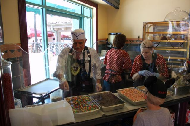 Cast Members making treats at Sweet Spells