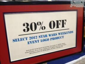 There was 30% off Star Wars Weekends merchandise this weekened