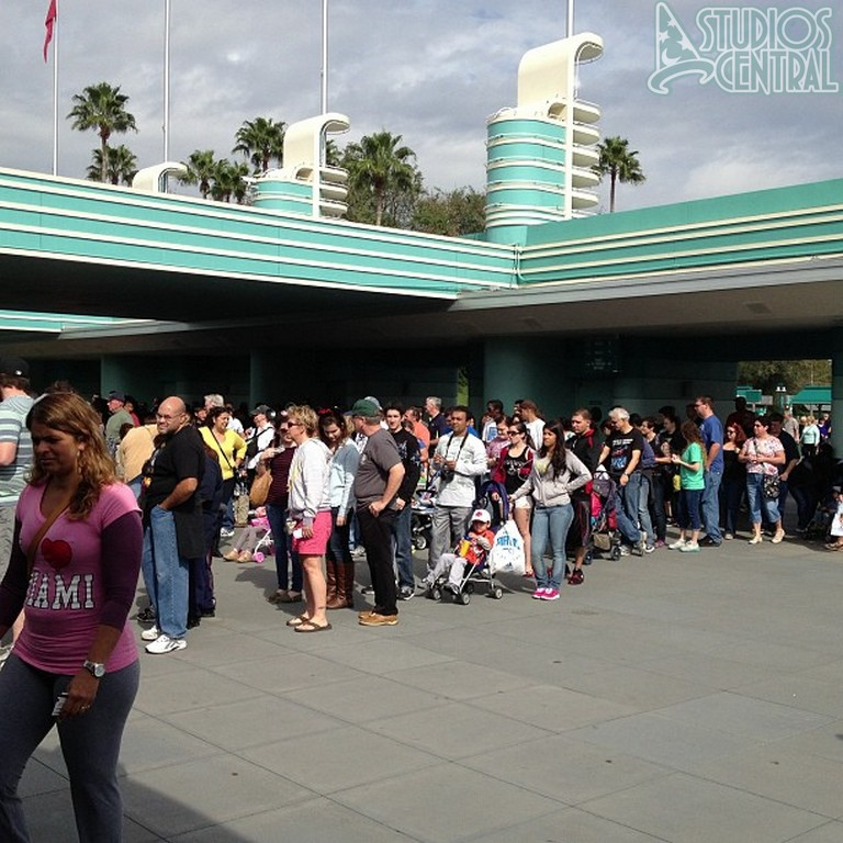 Still a long line to enter the Studios