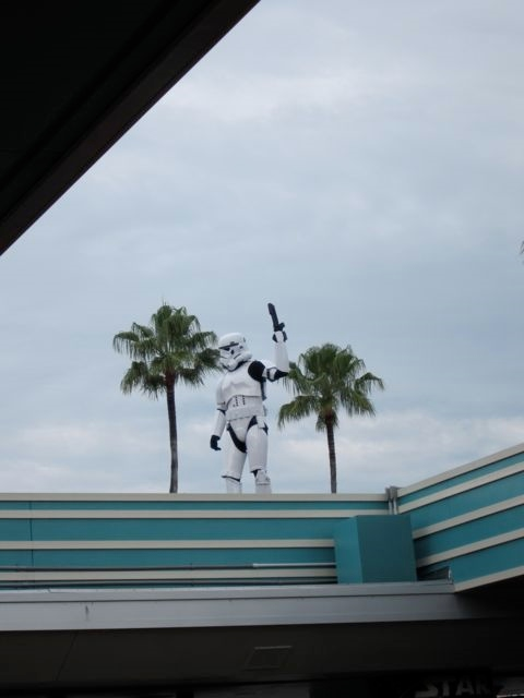 Storm Troopers at park gate