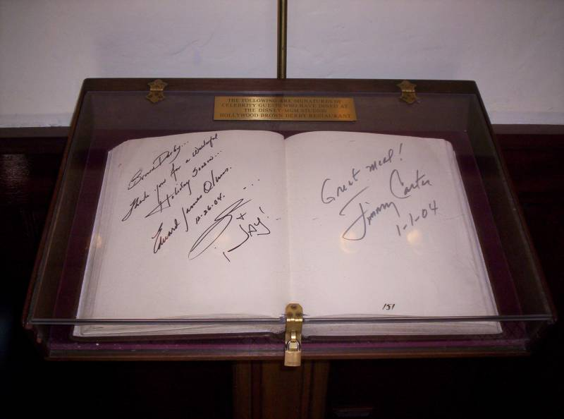Brown Derby Guestbook