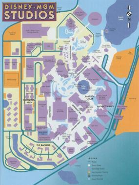 Old MGM Studios Cast Member Map(Pre-Lights, Motors, Action! Stunt Show)