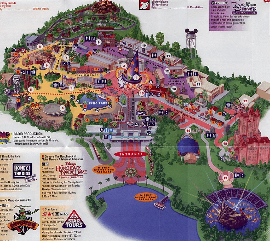 Map from 100 Years of Magic celebration