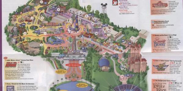 Old MGM Studios Map (Pre-Who Wants to be a Millionaire closure)
