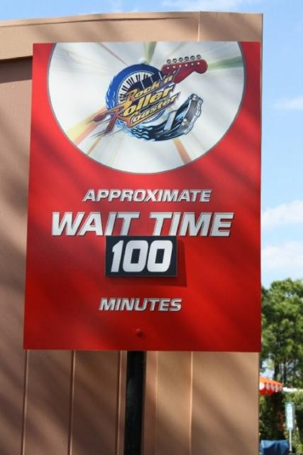 Standby wait time sign
