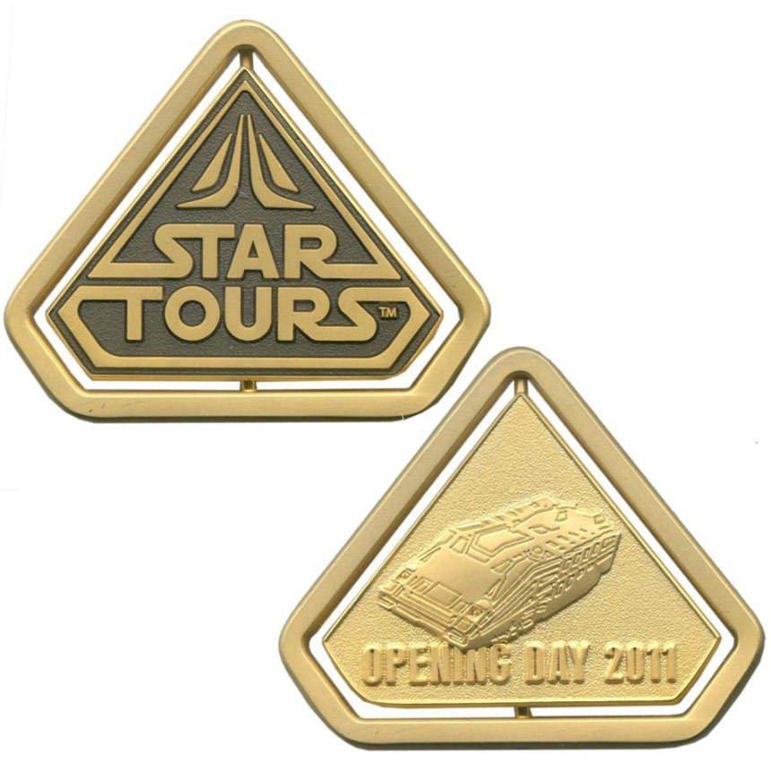 Star Tours 2 Opening Day Pin Set