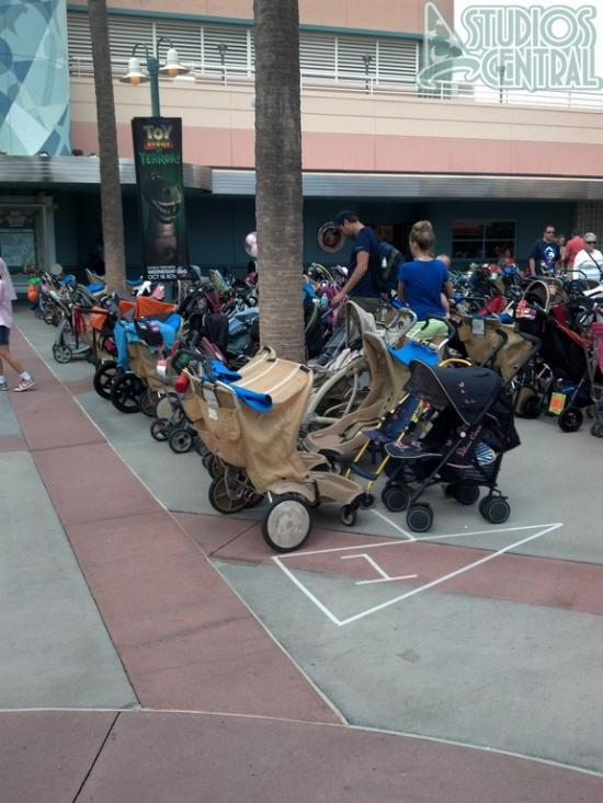 Stroller parking has been changed in the animation courtyard
