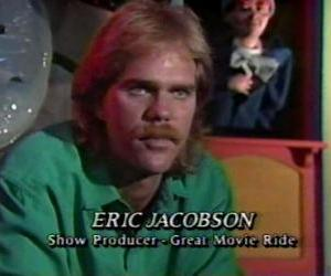 Eric Jacobson circa 1988, working on the Great Movie Ride